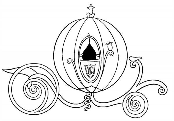 Desenho Para Colorir Da Cinderela