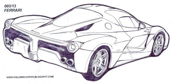 Carros Para Colorir Ferrari – Pampekids Net