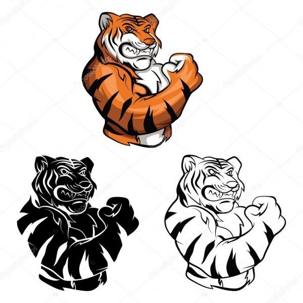 Colorir O Personagem De Desenho Animado Do Livro Tigre Mascote