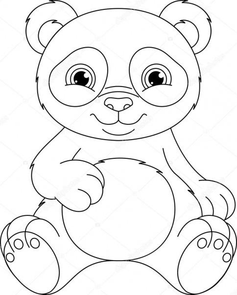 Página Para Colorir De Panda — Vetores De Stock © Malyaka  78422914