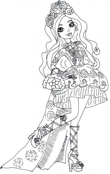Desenho De Briar Beauty De Ever After High Para Colorir