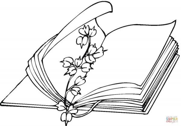 Desenho De Livro Aberto Para Colorir – Pampekids Net