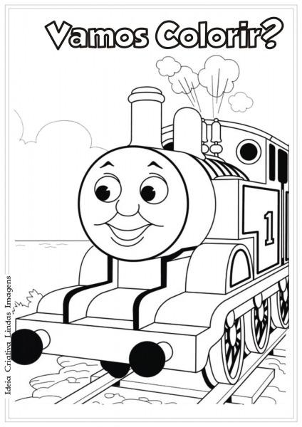 Desenho Pra Colorir Thomas E Seus Amigos