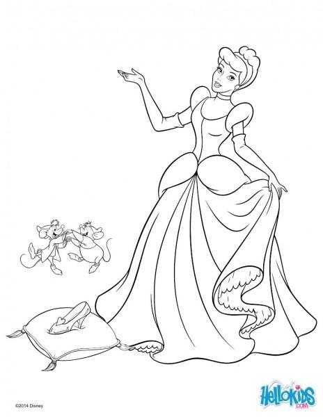 Desenhos Cinderela Para Colorir – Pampekids Net