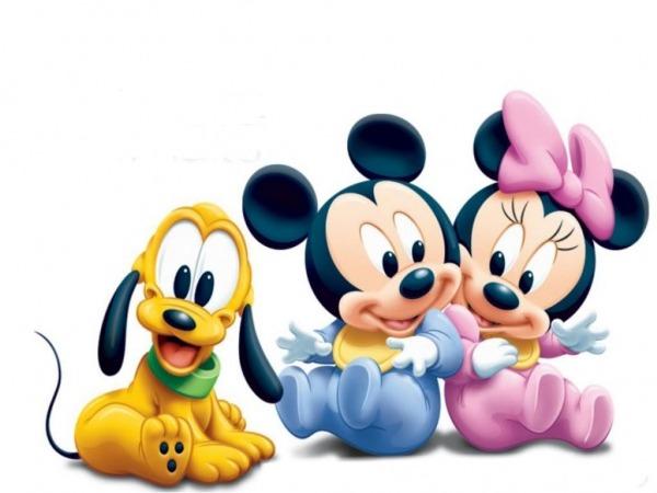 Dibujos Ideia Criativa Desenho Mickey E Minnie Baby Colorido