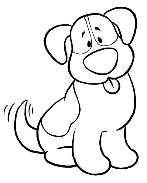 Desenho De Cachorro Para Colorir – Pampekids Net