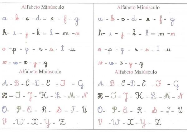 Alfabeto Maiusculo E Minusculo Ilustrado Para Imprimir