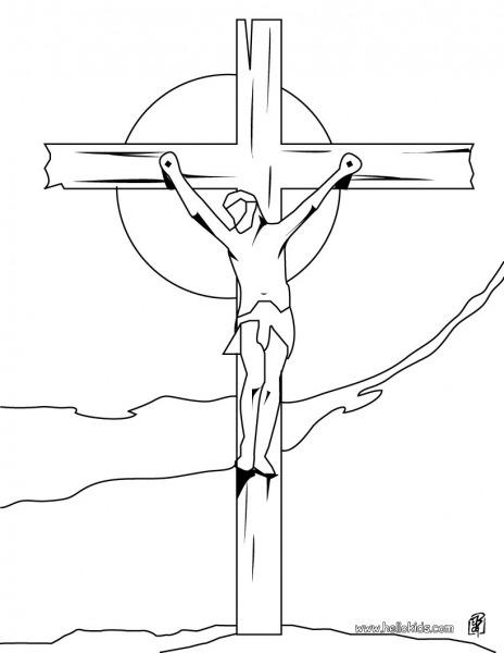 Desenho De Cruz Para Colorir – Pampekids Net