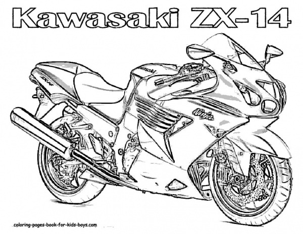 Desenhos Para Colorir Moto