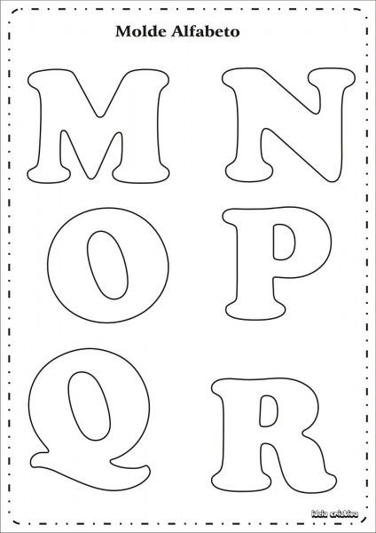 Molde Letras Do Alfabeto