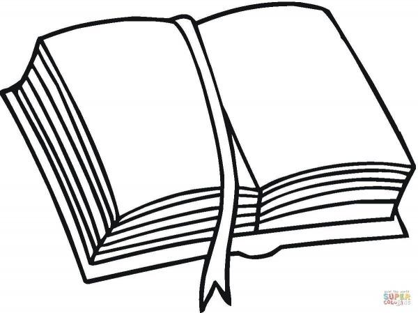 Resultado De Imagem Para Desenho De Um Livro Aberto Para Pintar
