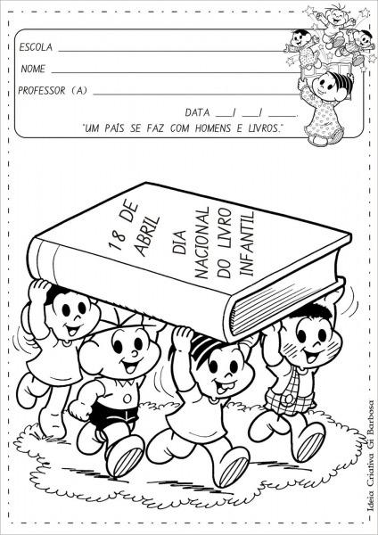 Álbum De Atividades Dia Do Livro Infantil Com Ilustrações De Turma