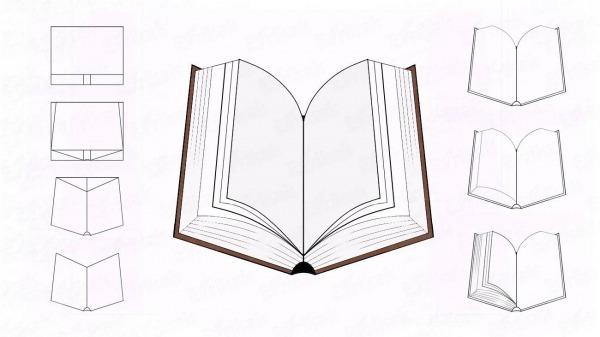 Como Desenhar Passo A Passo Um Livro Aberto Com Um Simples Lápis