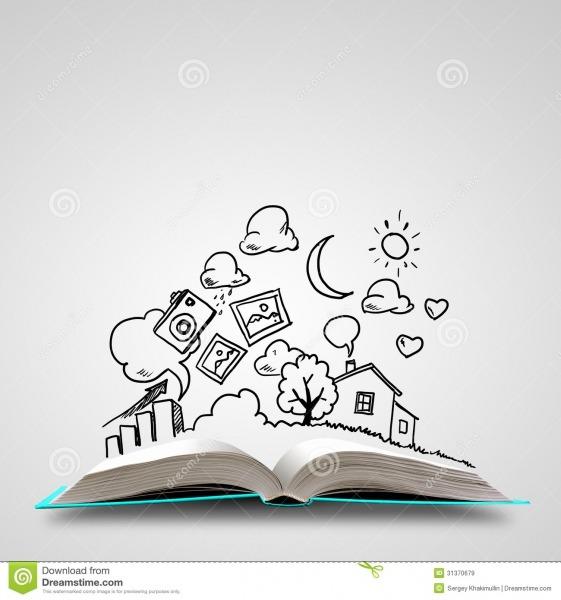 Desenhos Para Colorir De Livros Abertos – Pampekids Net