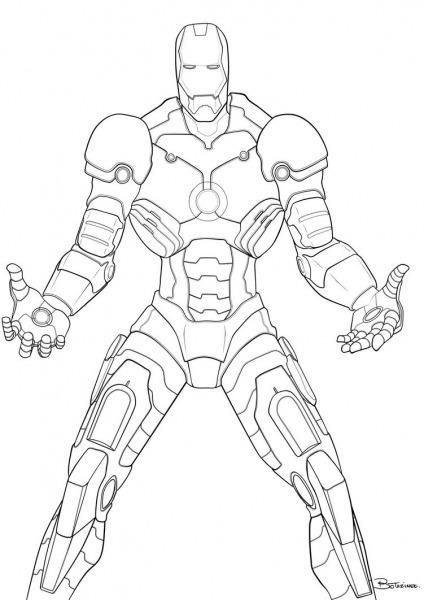 Homem De Ferro Iron Man Desenhos Para Colorir Imprimir E Pintar