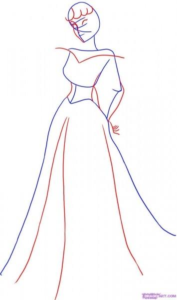 Como Desenhar Um Vestido De Festa