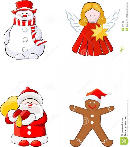 Jogo De Figuras Do Natal Ilustração Do Vetor  Ilustração De