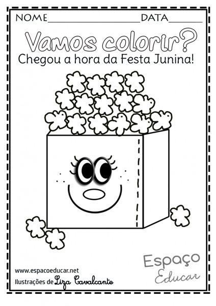 Imagem De Pipoca Para Colorir – Pampekids Net