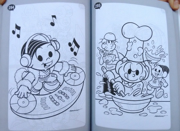 Livro 501 Desenhos Para Colorir Turma Da Mônica Culturama