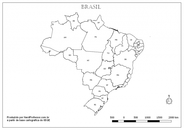 Mapa Estados E Capitais Do Brasil Colorir – Nerd Professor