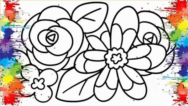 Desenhos Para Colorir Colorindo Flores Colorirdas Lindos Desenhos