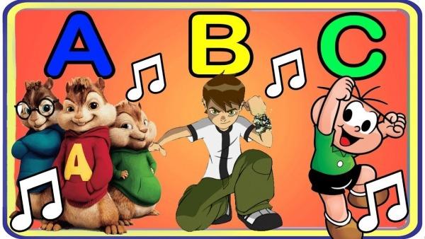 MÚsica Do Alfabeto Só Com Personagens Infantis (abc Dos Desenhos