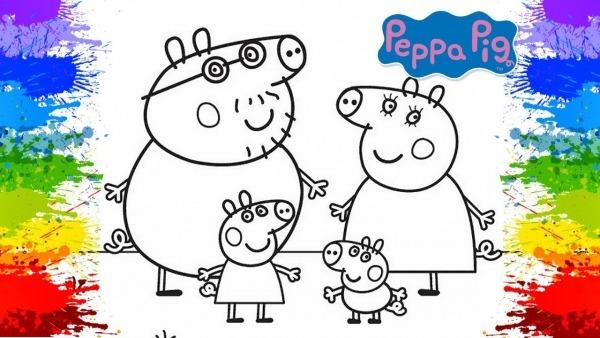 Desenho Da Peppa Pig Pinturas Como Pintar Online Porquinha Rosa