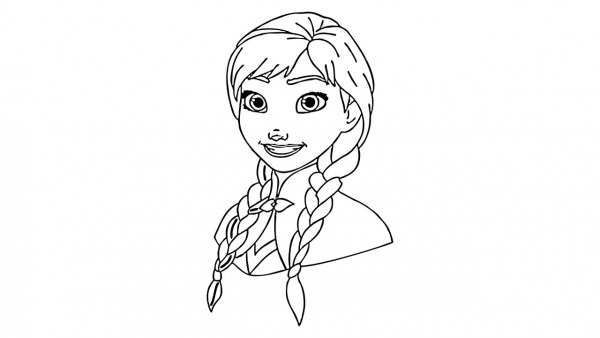 How To Draw Anna From Frozen (character)