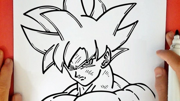 Como Desenhar O Goku Limit Breaker Do Dragon Ball Super
