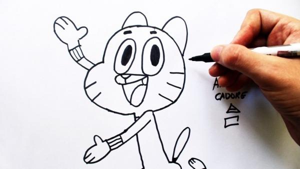 Como Desenhar Gumball Watterson [o I  Mundo De Gumball]