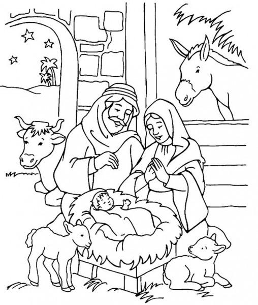 Menino Jesus Para Colorir