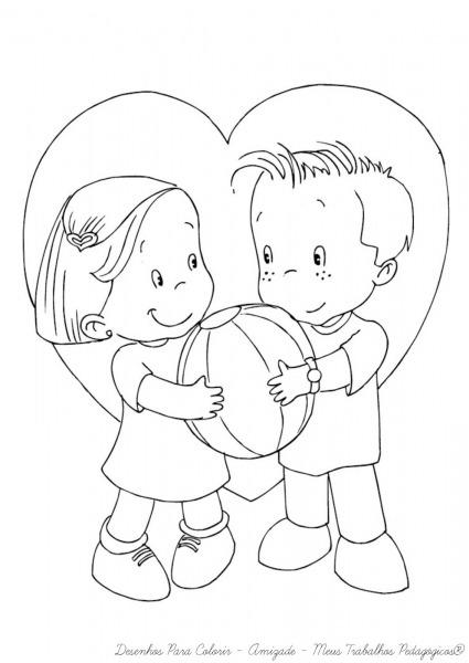 Desenhos Para Colorir Sobre A Amizade – Pampekids Net