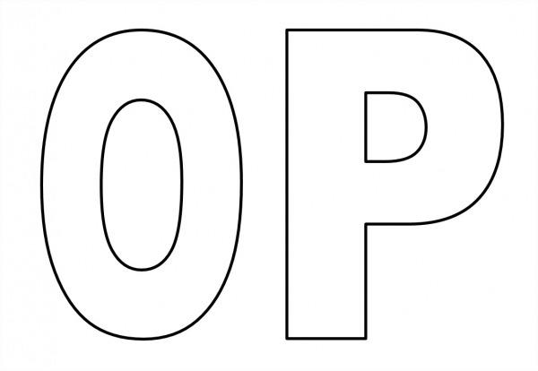 Letras Do Alfabeto Para Colorir Tamanho Grande – Pampekids Net