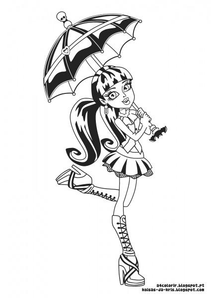 Imprimir Desenho Da Monster High – Pampekids Net