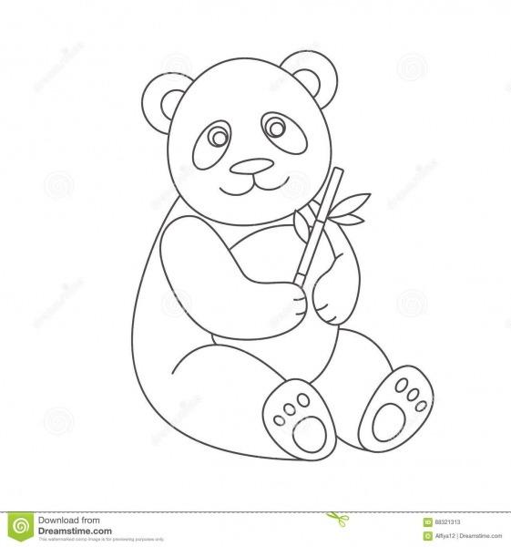 Panda Para O Livro Para Colorir Ilustração Do Vetor