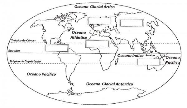 Planisferio Para Colorir – Pampekids Net