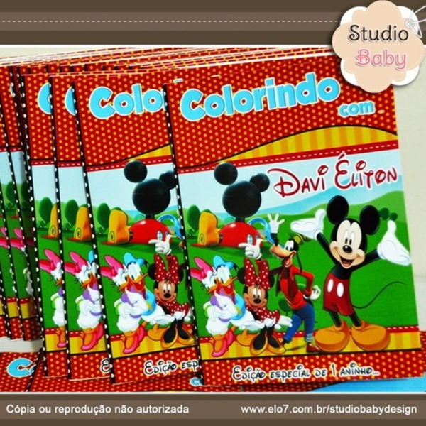 Revista De Colorir Mickey E Sua Turma No Elo7