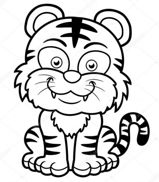 Tigre Para Colorir E Imprimir