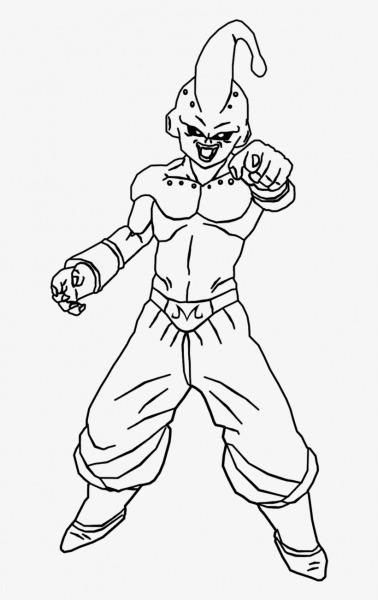 Dragon Ball Z Majin Buu Coloring Page