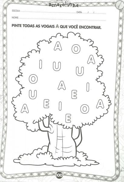 Atividades Infantis Com As Vogais Para Colorir