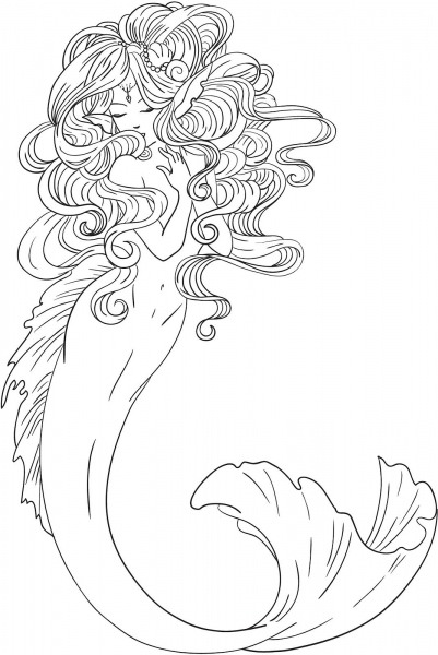 Realistic Fairy Coloring Pages For Adults