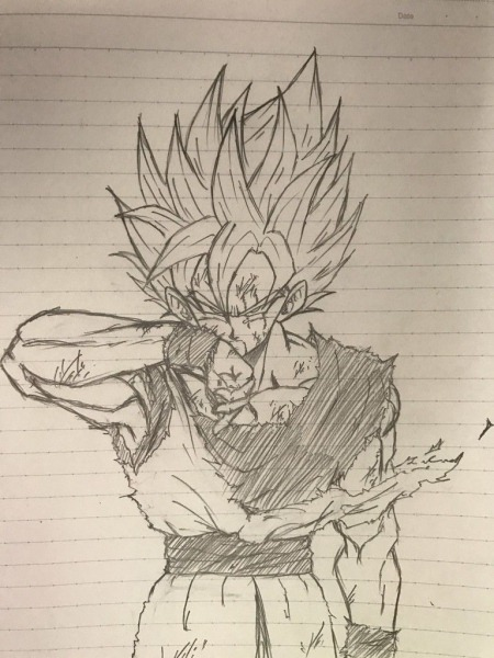 Ssj Goku Battle Damaged