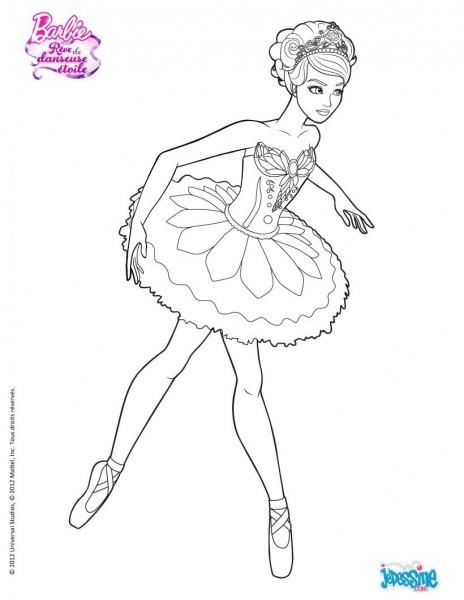 Coloriage Barbie   Kristyn à Colorier Www Hellokid Com