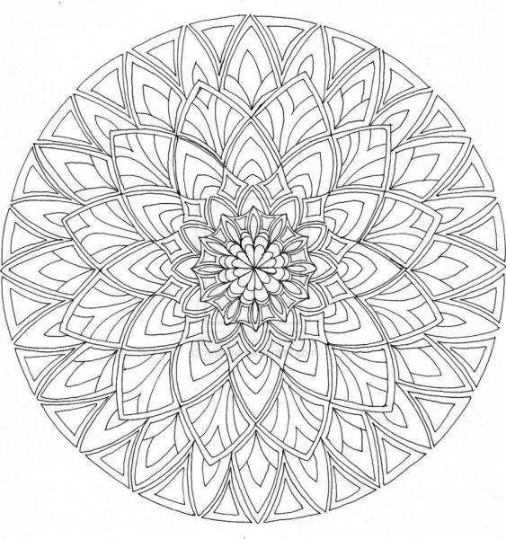 Desenhos Para Colorir Difícil Mandala Nível