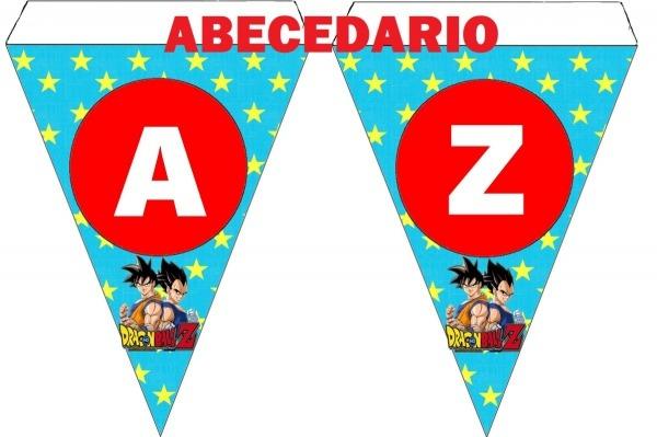 Banderín Personalizado Listo Para Imprimir De Dragon Ball Z