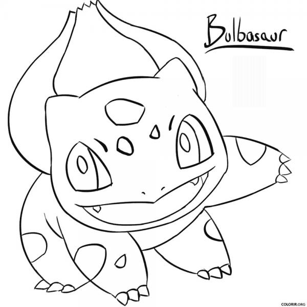 Pokémon  Bulbasaur Para Colorir — Colorir Org