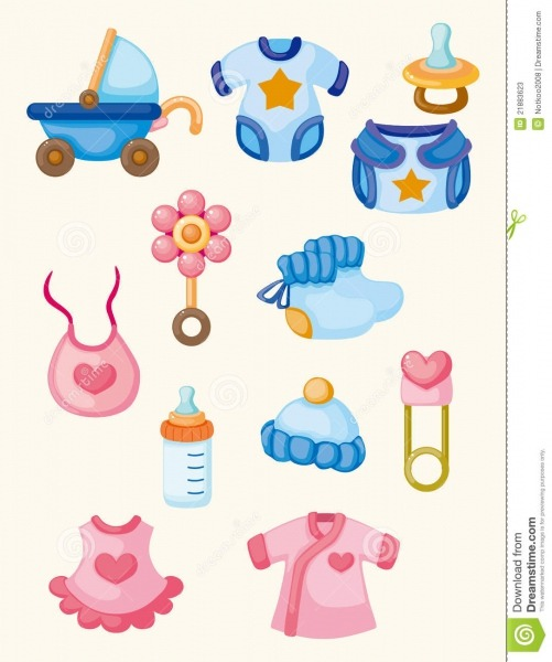Cartoon Baby Good Icon Set Stock Vector  Illustration Of Child
