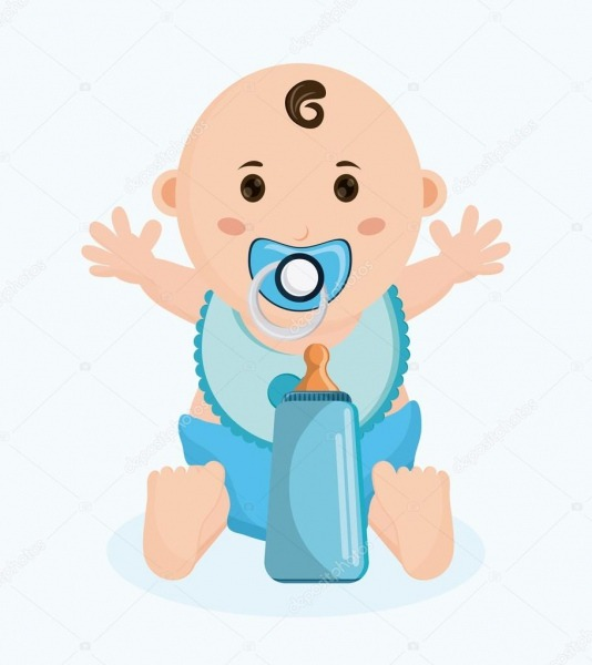 Baby Boy Cartoon Of Baby Shower Concept — Stock Vector © Jemastock