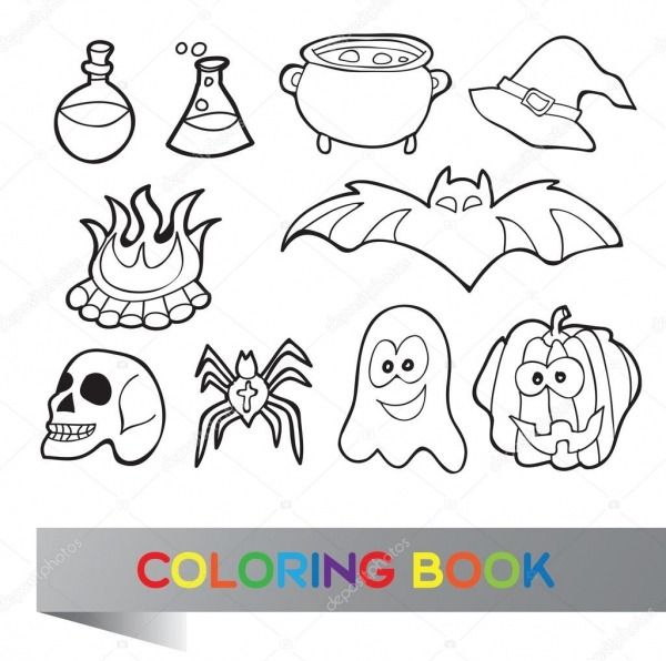 Livro Para Colorir Halloween — Vetores De Stock © Brill  52445131