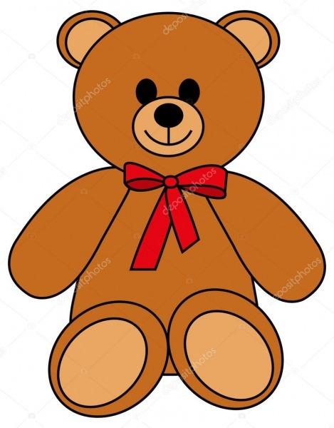 Desenho De Urso De Pelúcia — Vetores De Stock © Familyf  65689277